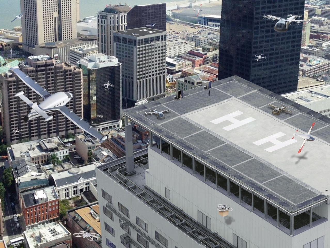 Not be held down by its continuing troubles here on solid ground, Uber is pushing ahead with its flying taxi ambitions