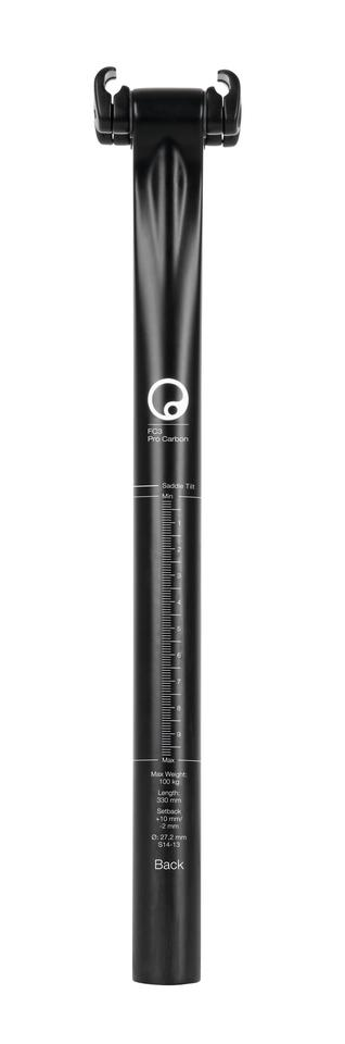 A rear view of Ergon's CF3 Pro Carbon seatpost