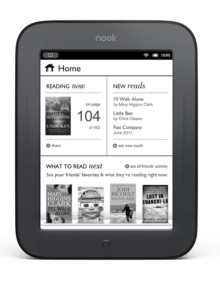 In addition to optical touchscreen technology, the new Nook also gets the latest Pearl e-ink with 16-level gray scale and much-improved contrast