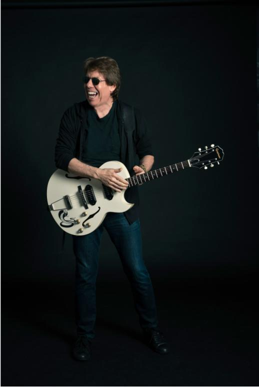 "George Thorogood with his signature Epiphone ""White Fang"" ES-125TDC Outfit guitar"