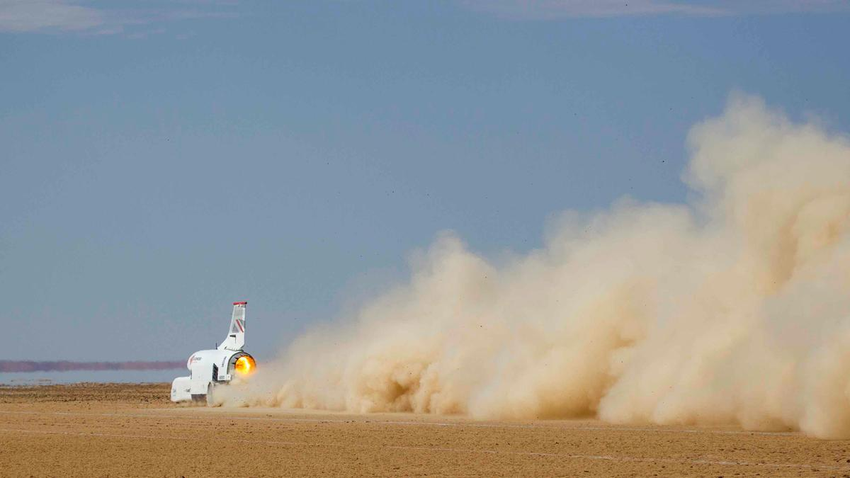The Bloodhound LSR car has now completed its phase of high-speed testing