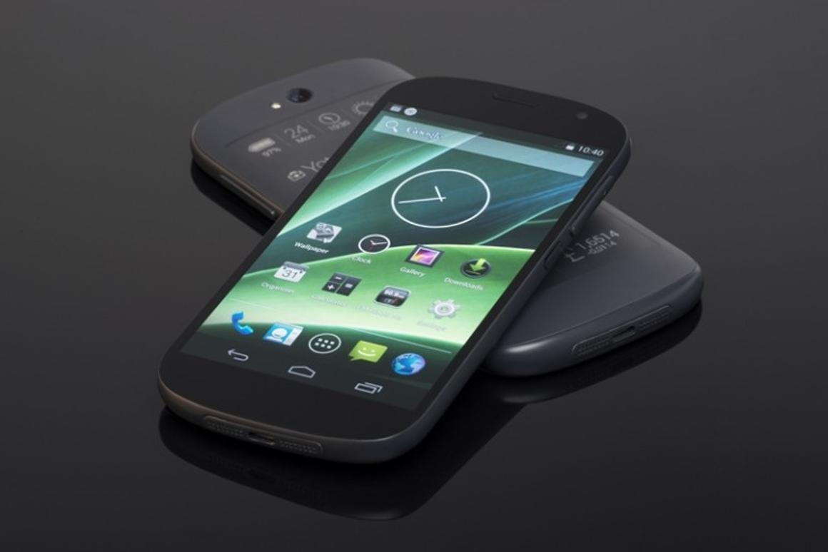 The YotaPhone 2 features an AMOLED color screen and an electronic paper display on the back