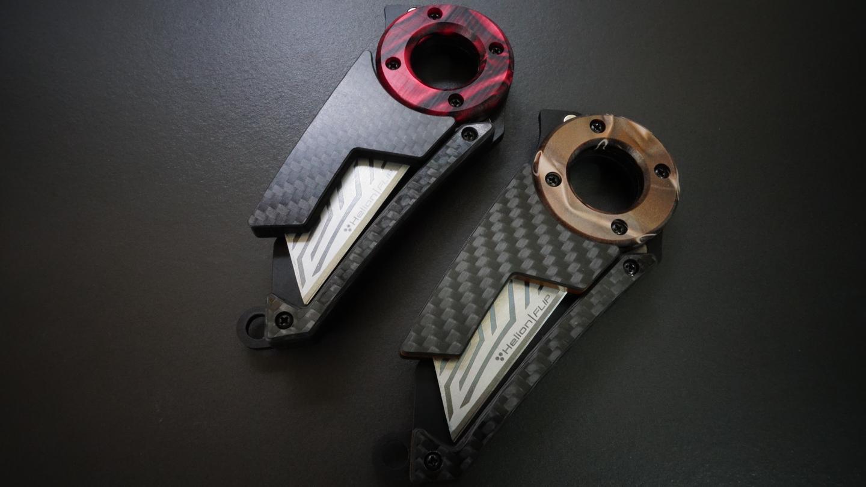 Pledges over at the Kickstarter campaign start at CA$105 (US$80) for the Kirinite and carbon fiber Helion Flip knife