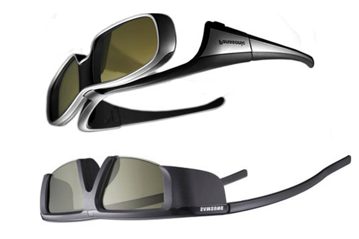 By wearing opposing brands' active shutter 3D glasses upside down, viewers can still get the full benefits from Panasonic and Samsung 3D TVs