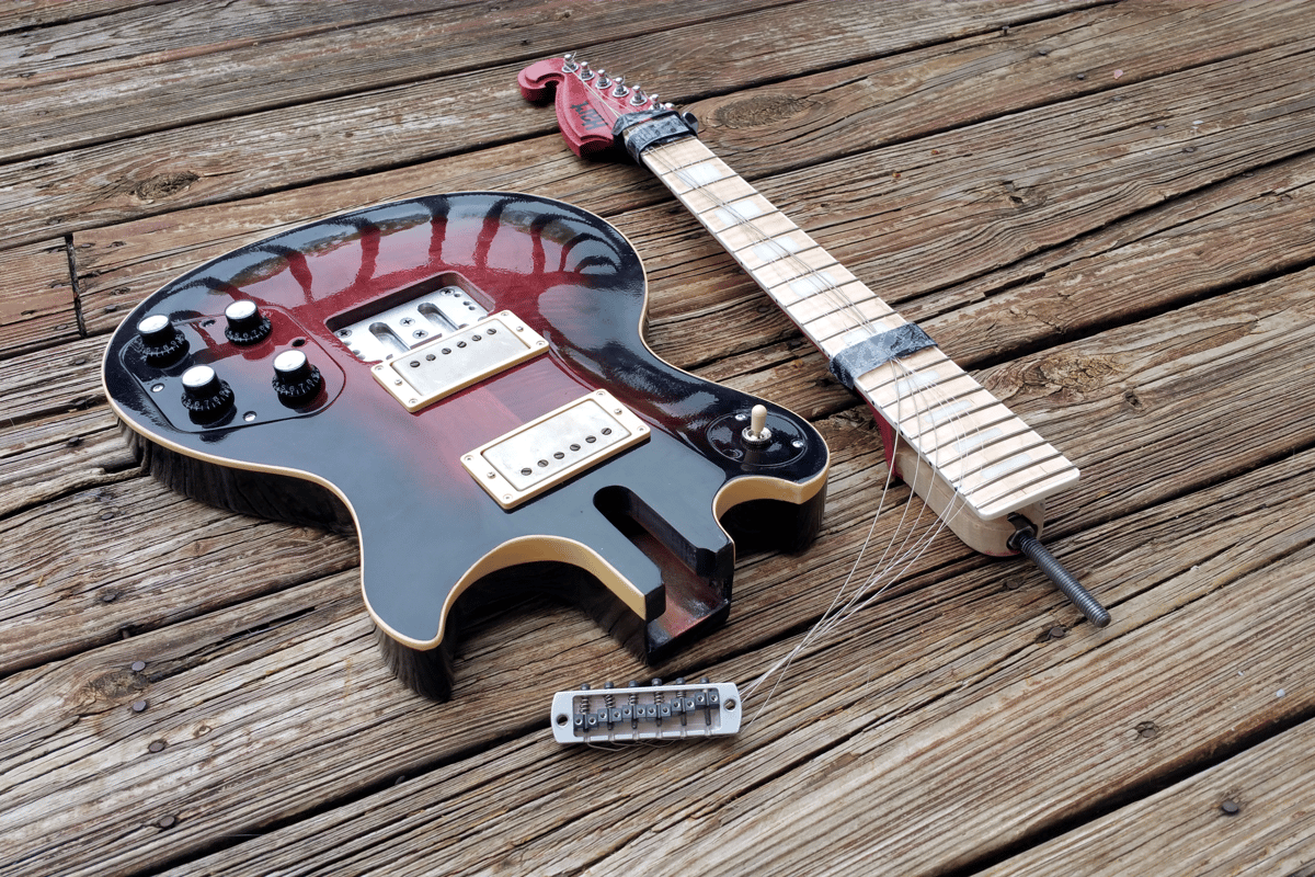 The Genesis from Philip Hart Guitars can be disassembled for travel thanks to a patented bolt-through neck design