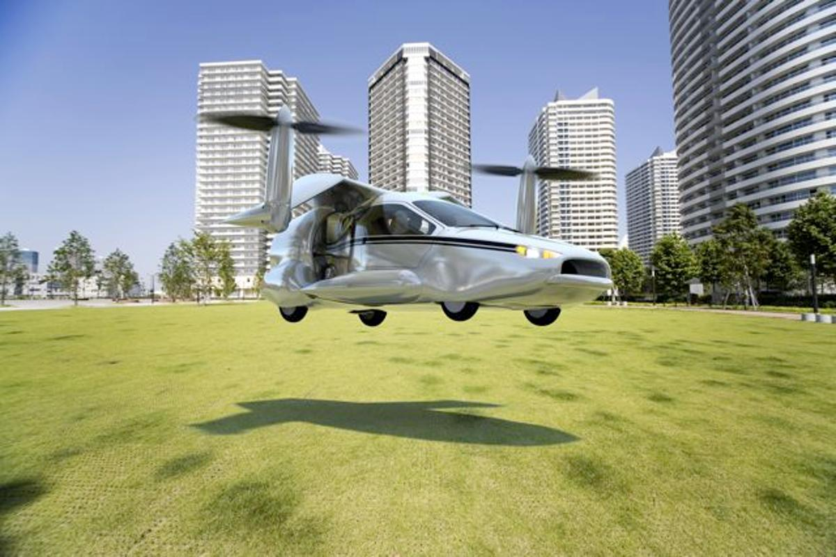 Terrafugia has announced its plans to develop a vertical-take-off-and-landing flying car, known as the TF-X (Image: Terrafugia)
