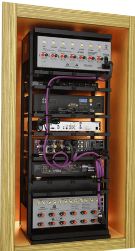 The rear of the rack is easily accessible
