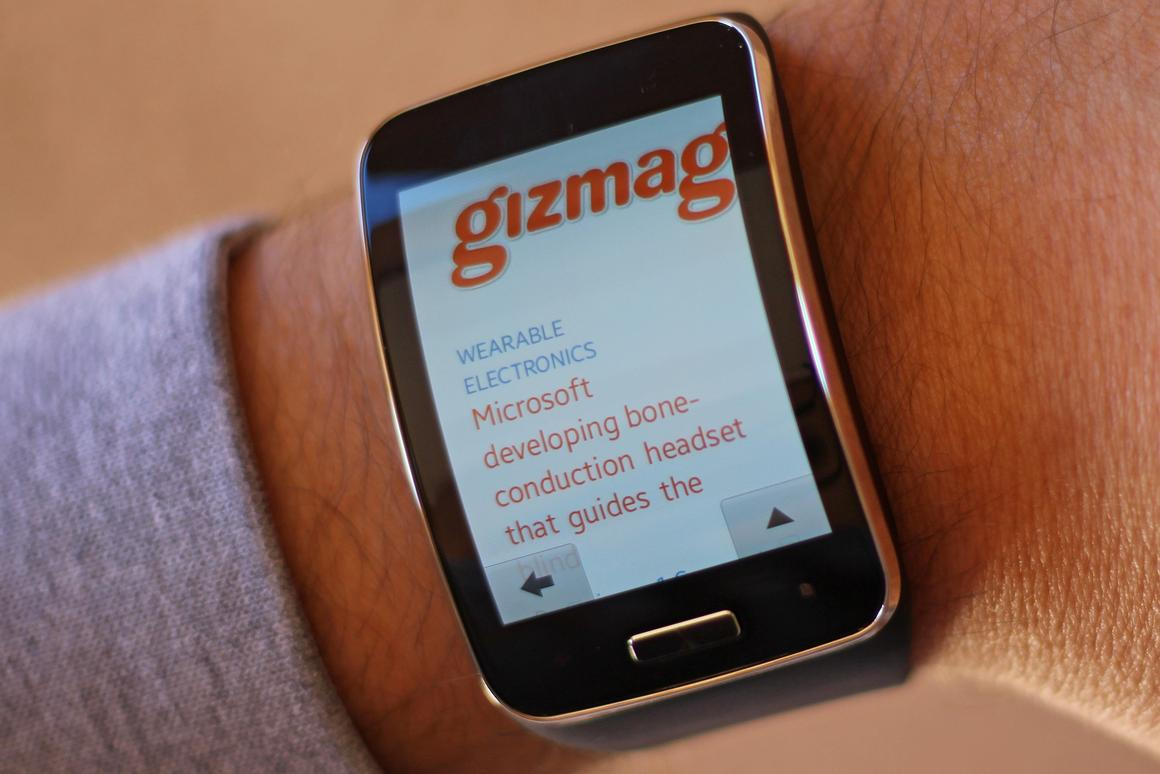 Gizmag shares some early thoughts on the Gear S (Photo: Will Shanklin/Gizmag.com)