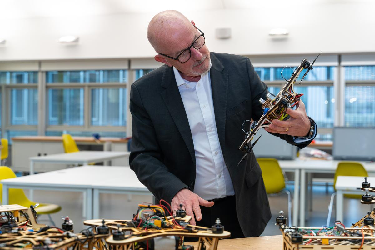 The UAV Research Support Programme, set up by Dr, Patricia Turner and Dr. Ewan Kirk (pictured), will find new ways to cheaply adapt existing drones to minimize energy requirements