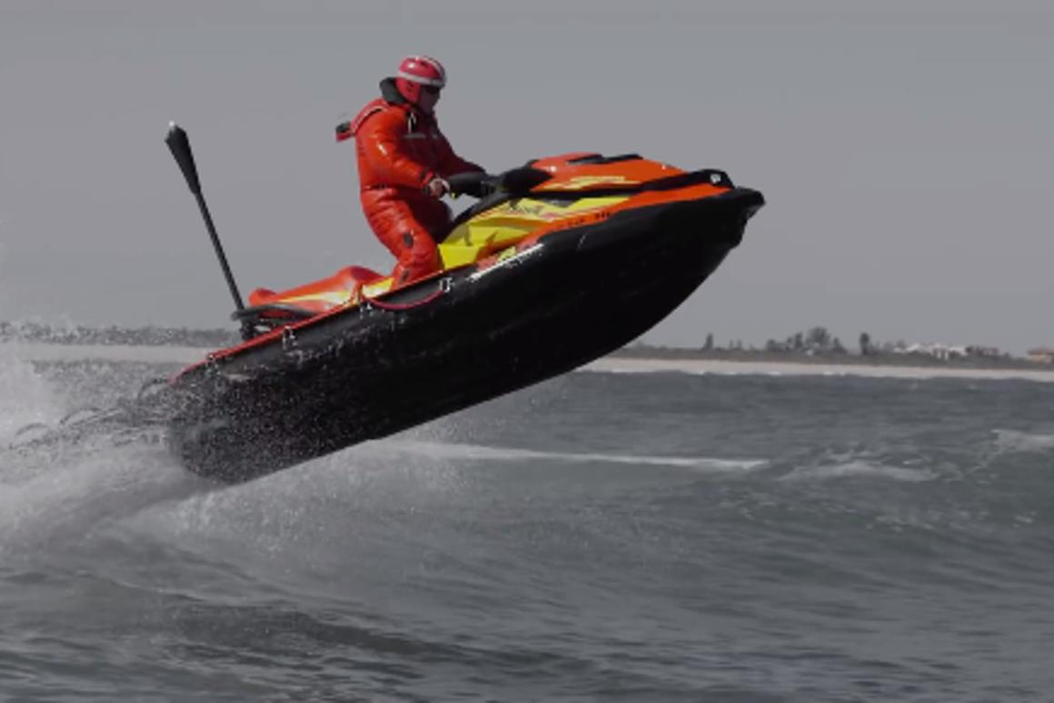 Sea-Doo PWC equipped for search and rescue