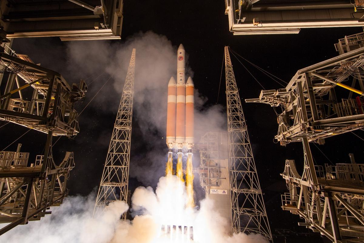 The Solar Parker Probe blasts off from Cape Canaveral