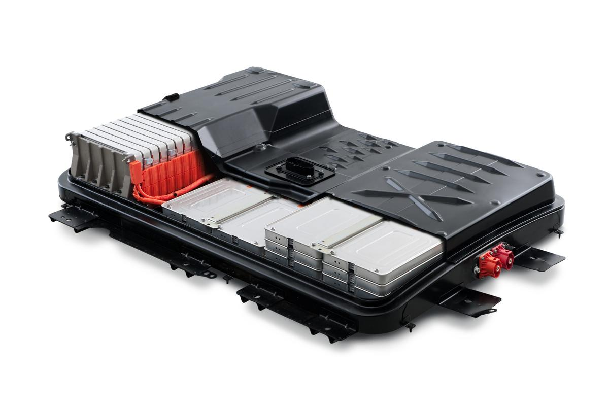 A Nissan Leaf battery pack, as will be used in the new energy storage units