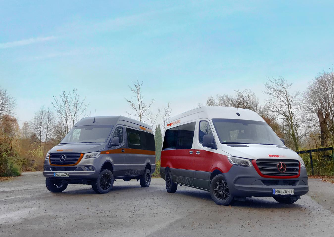 There are a number of different Flowcamper Max models, including both 592- and 690-cm versions