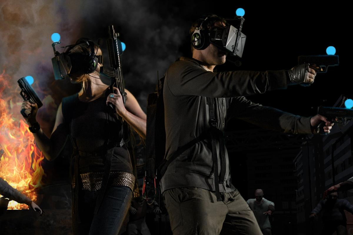 Melbourne-based startup Zero Latency built a wireless cooperative virtual reality environment in which you and a friend can blast – or run and hide from – zombies that seem freakishly real