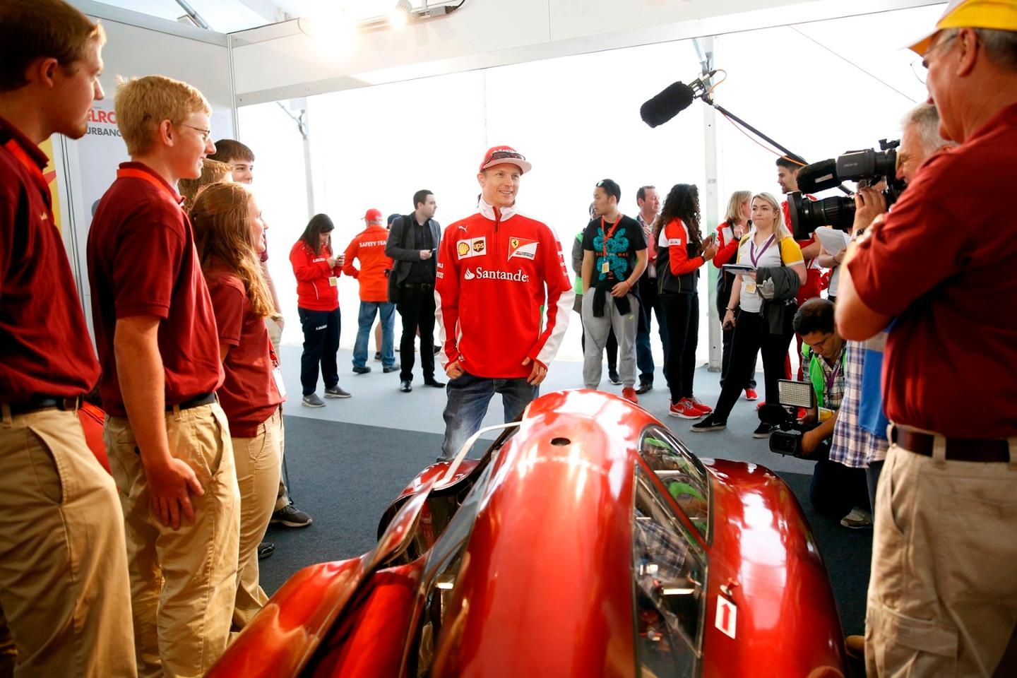 Kimi Räikkönen is seen behind the scenes during day one of Make the Future London 2016