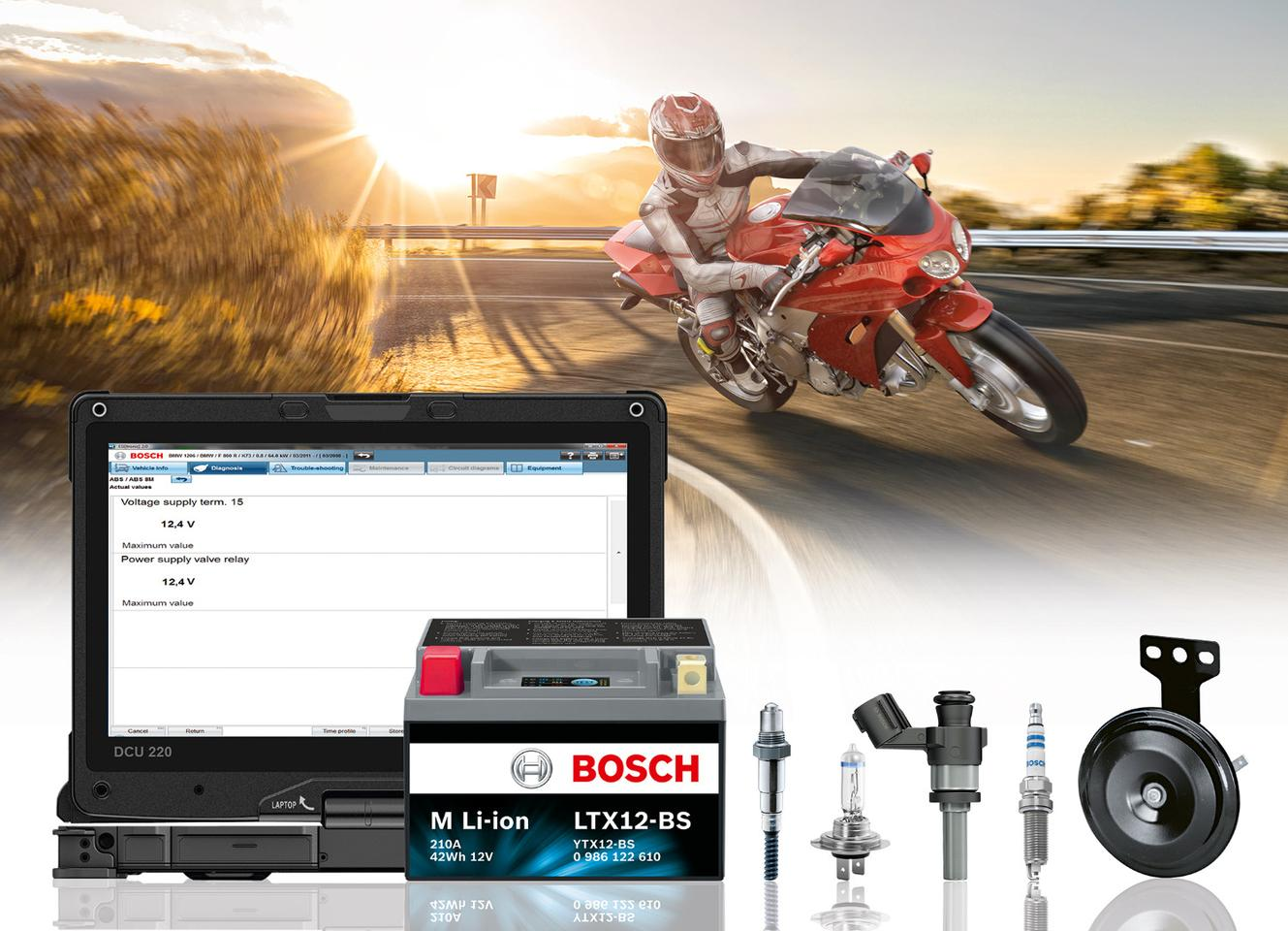 Bosch offers a wide variety of gear for motorcycles