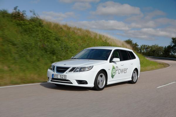 Saab goes all-electric with ePower station wagon