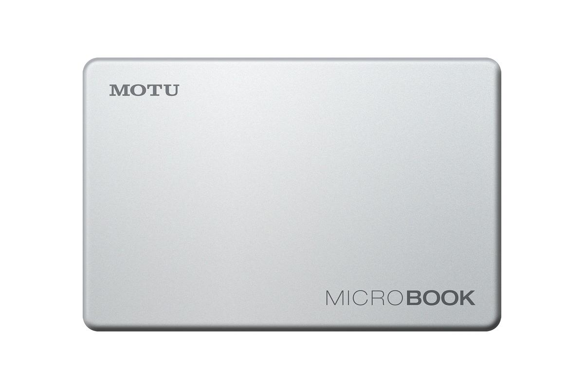 The MicroBook from MOTU brings professional level studio recording capabilities to a Mac or PC computer