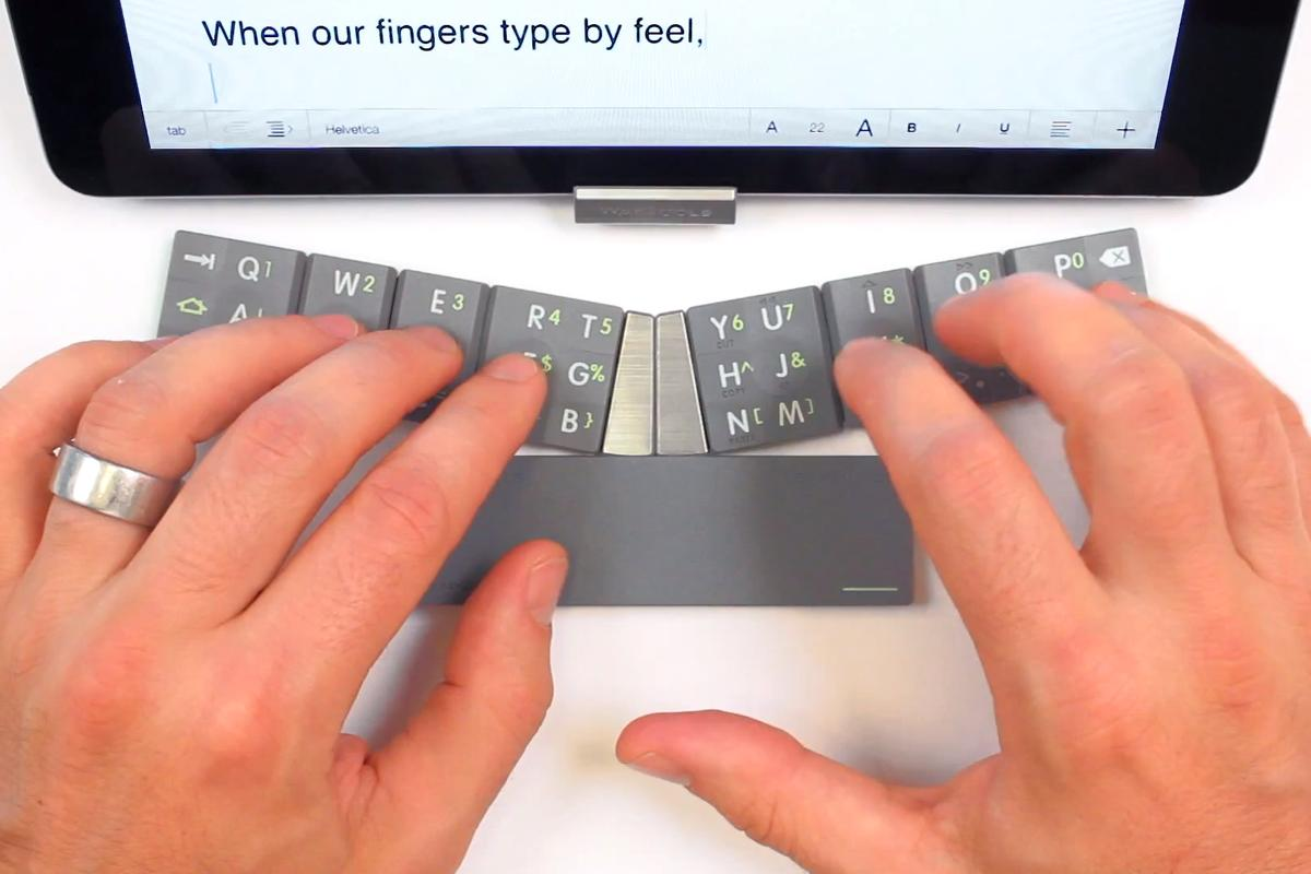 The TextBlade puts touch-typing capabilities in your pocket