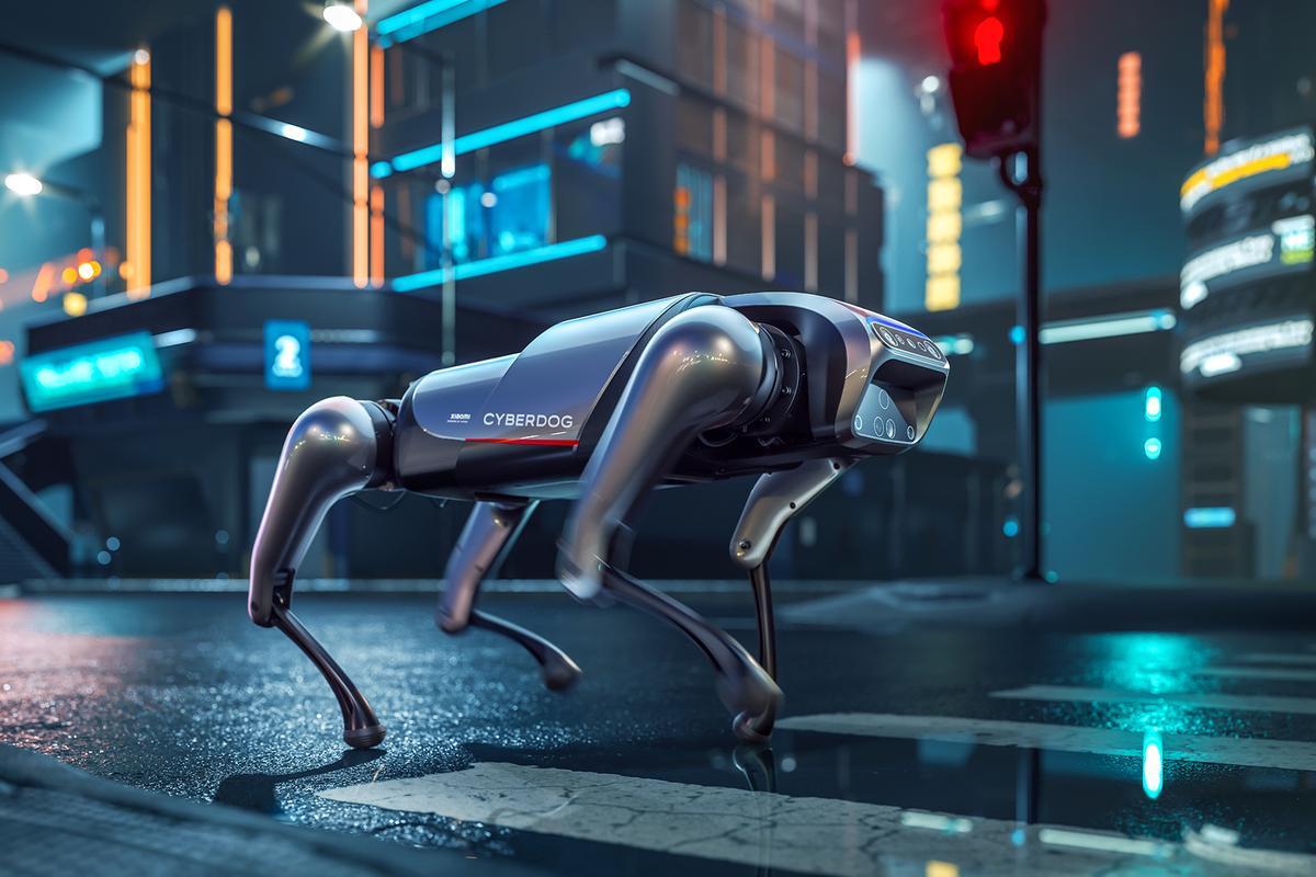Xiaomi describes its CyberDog as an open-source robot companion