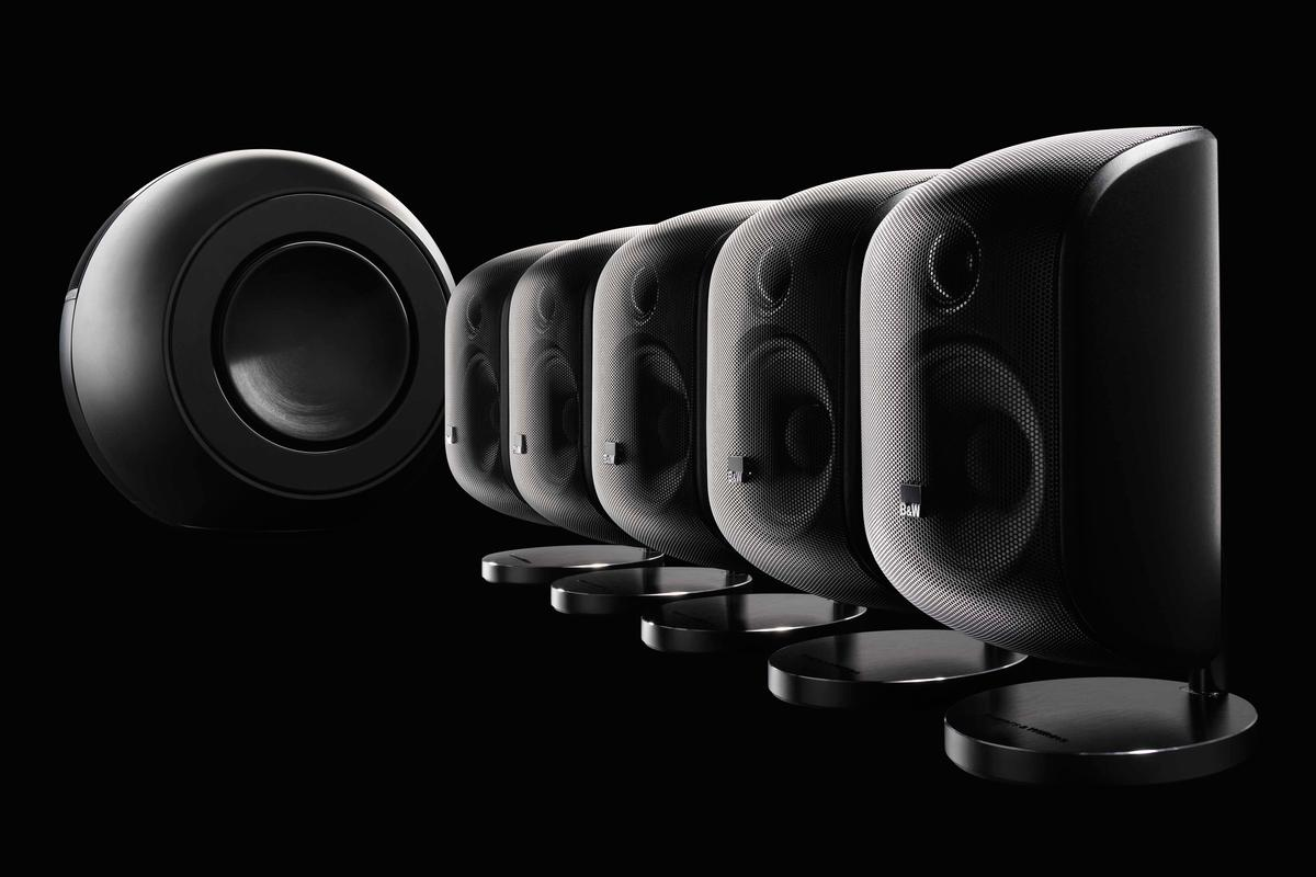 The MT-60D Mini Theater from B&W comprises five M-1 units and the new PV1D subwoofer