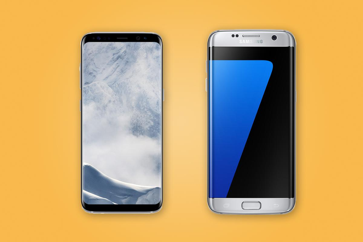 New Atlas compares the features and specs of the (left to right) SamsungGalaxy S8,S8+, S7 and S7 edge
