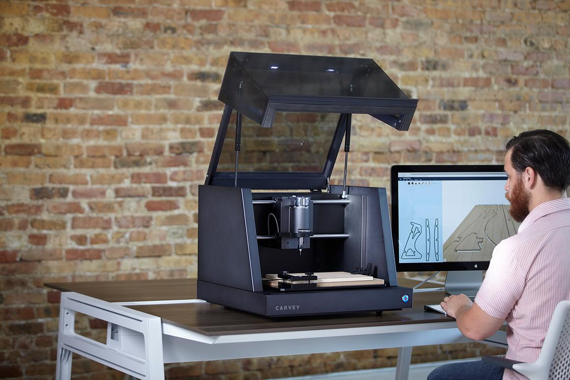 Carvey is a prototype 3D carving device that can sculpt wood, plastic, and metal into almost any object that you care to design.
