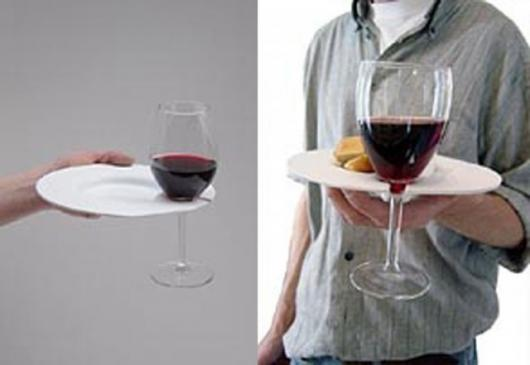 """""""James"""" plate and drink holder combo"""