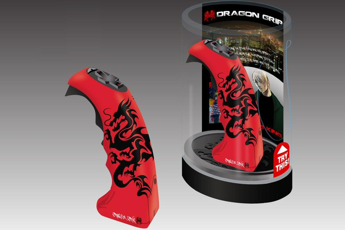 Fans of kung fu games and movies trying to emulate their heroes can now add authentic sound effects to simulated fight sequences with Dragon Grip
