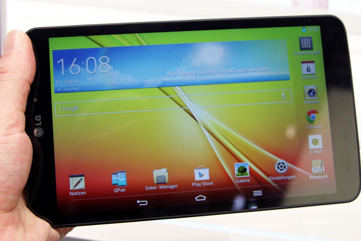 The LG G Pad 8.3 at IFA 2013