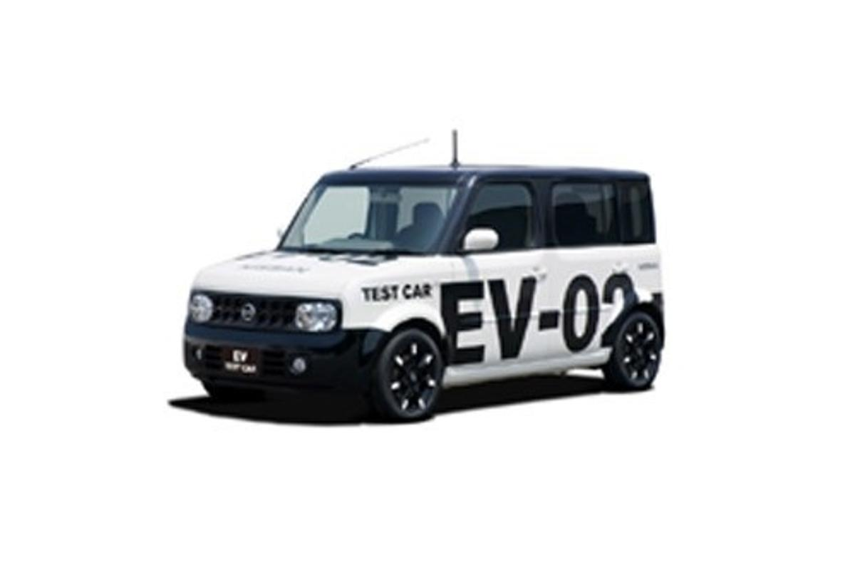 Nissan's EV-02 electric test vehicle