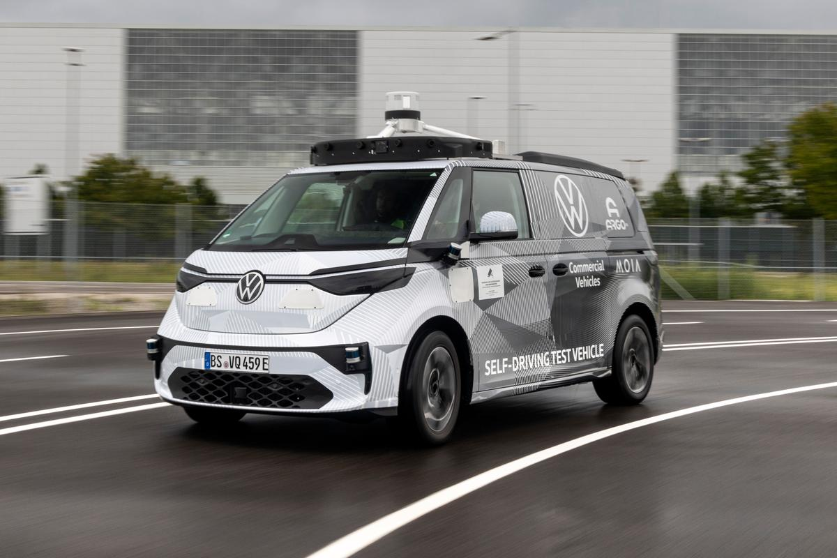 Volkswagen's first autonomous ID. Buzz minivans will soon be tested on the streets of Munich