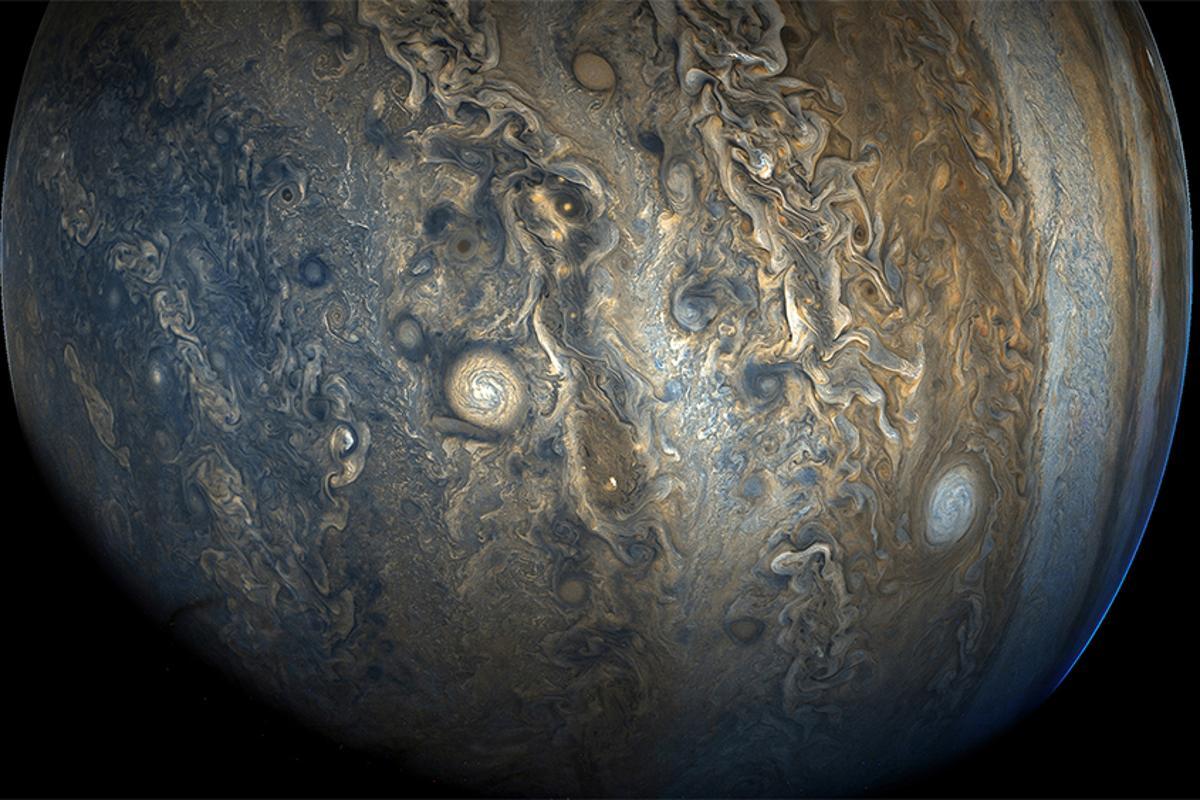 Jupiter's southern hemisphere photographed by NASA's Juno probe