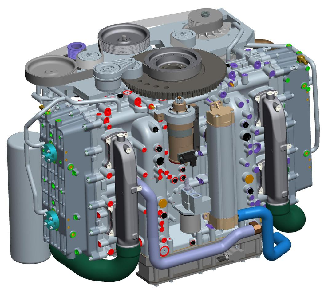 CAD model of the Cox Powertrain concept