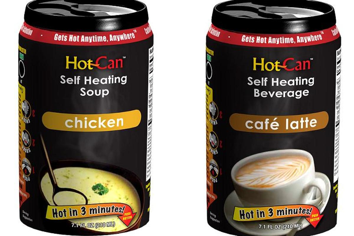 Both soups and drinks are available in the Hot Can