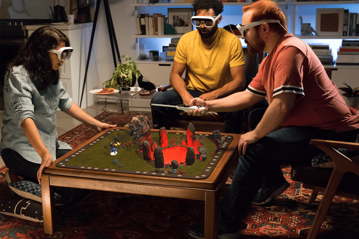 The Tilt Five is an augmented reality board game and video game system