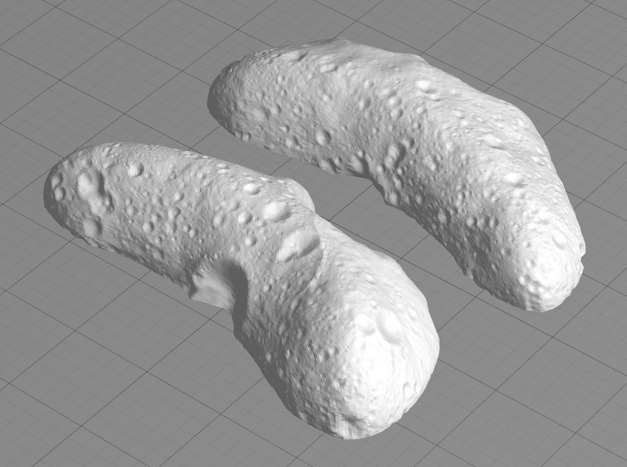 This model of the asteroid Eros is one of those available from NASA for 3D printing (Image: NASA)