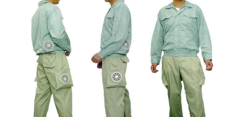 Kuchofuku's Air-Conditioned Cooling pants feature two battery powered fans to keep your legs cool