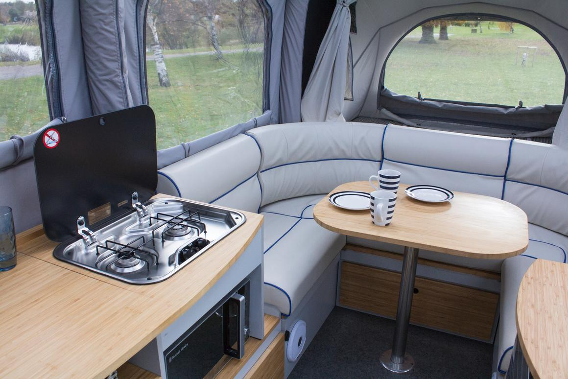 Air Opus camping trailer inflates into a home away from home