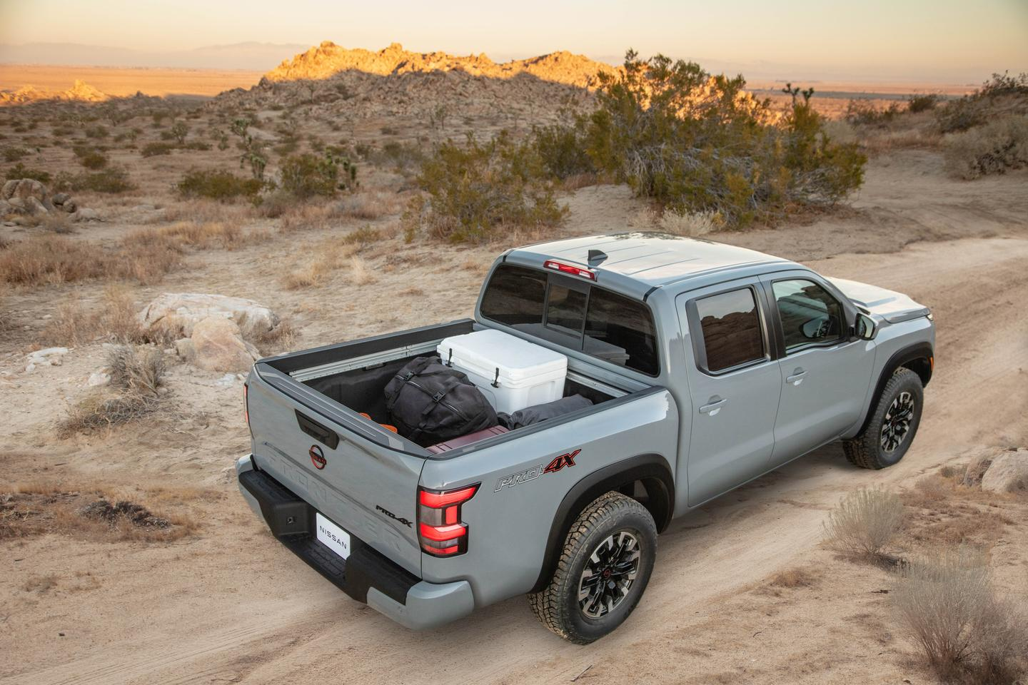 Most of the goodness of the previous-gen Frontier is still present in the new 2022 Frontier's bed, including the available sliding rails and spray-on liner