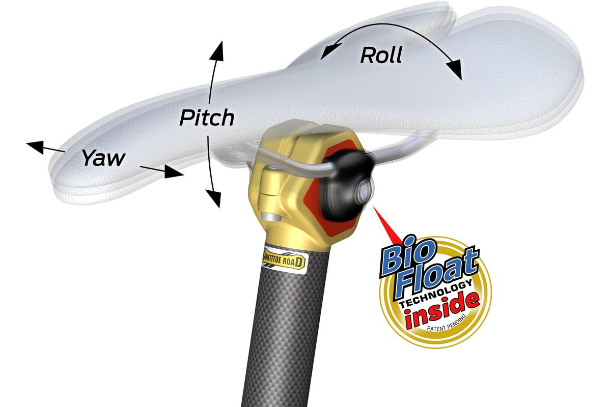 The BioFloat seatpost is designed to let the seat move with the rider's pelvis