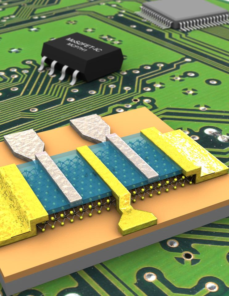 The world's first molybdenite microchip has been successfully tested in Switzerland.