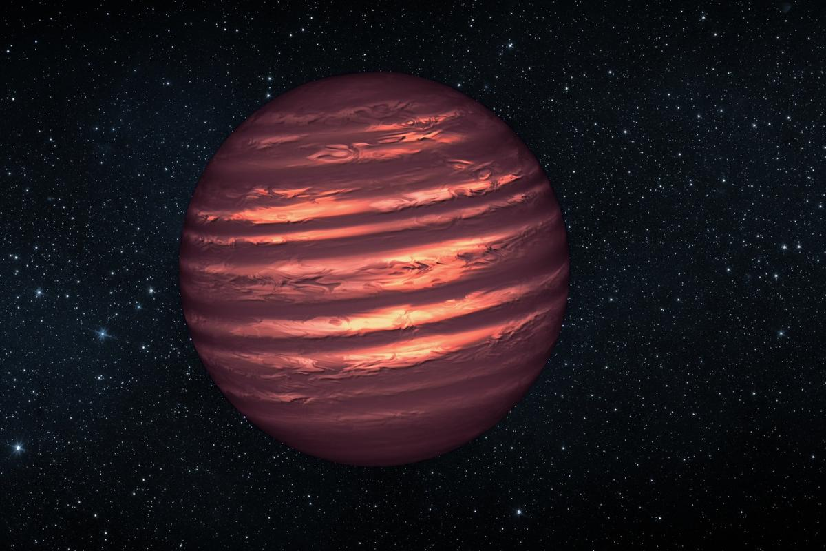 An illustration of a brown dwarf