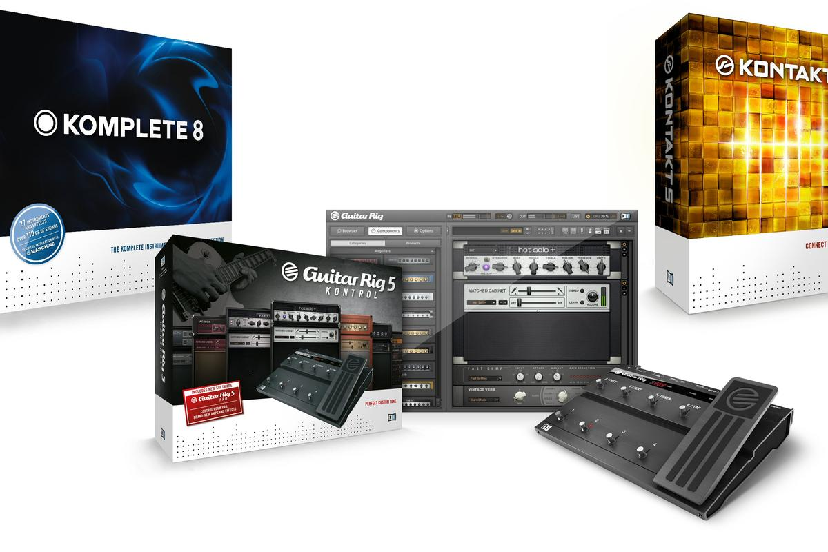 Native Instruments has unveiled new versions of its Guitar Rig, Kontakt and Komplete digital music production and performance packages