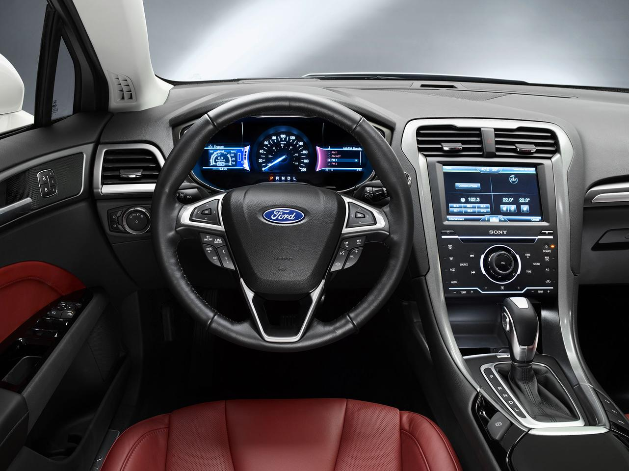 Cockpit view of the Ford Mondeo