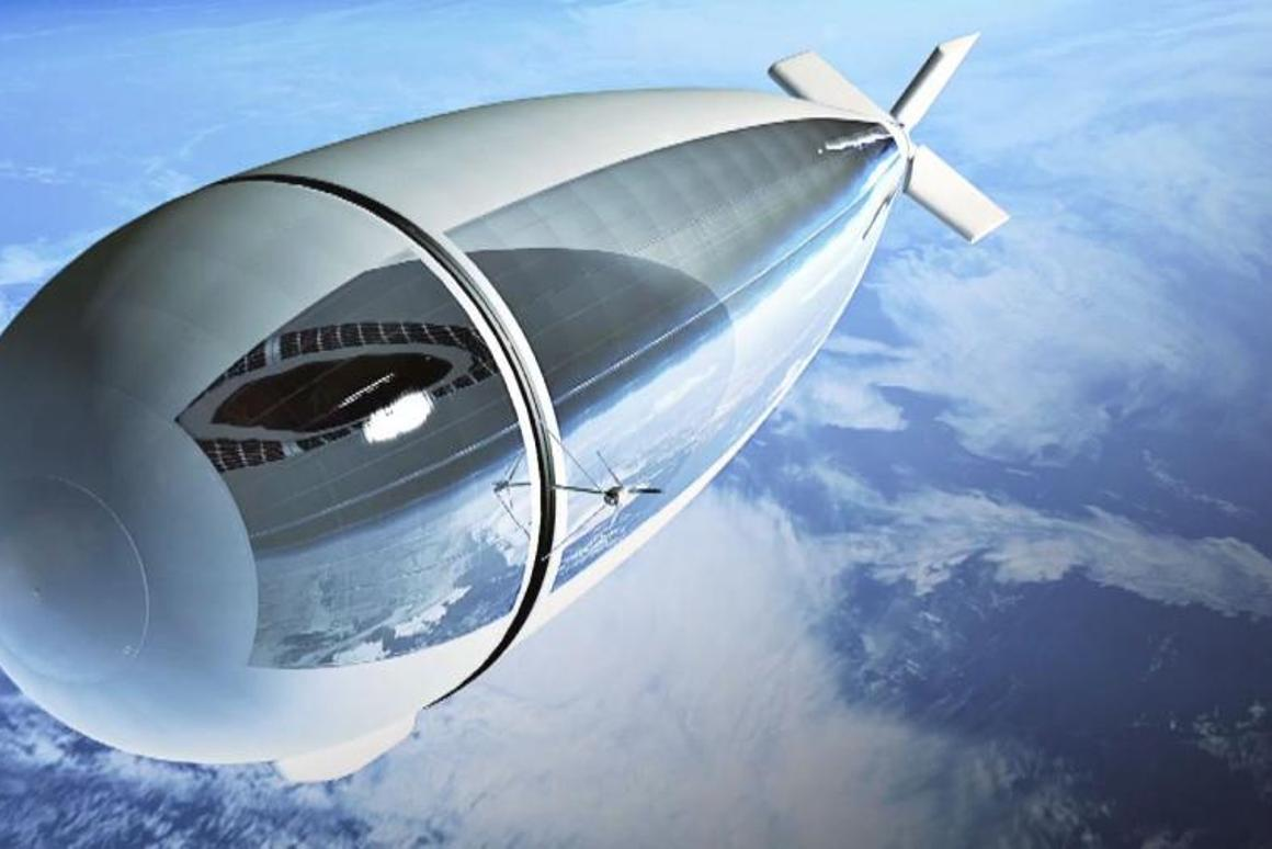 The StratoBus will hover up out of the way of airliners, but won't need to be launched into space