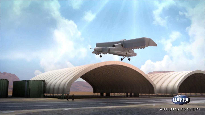 Artist's concept of the VTOL X-Plane taking off