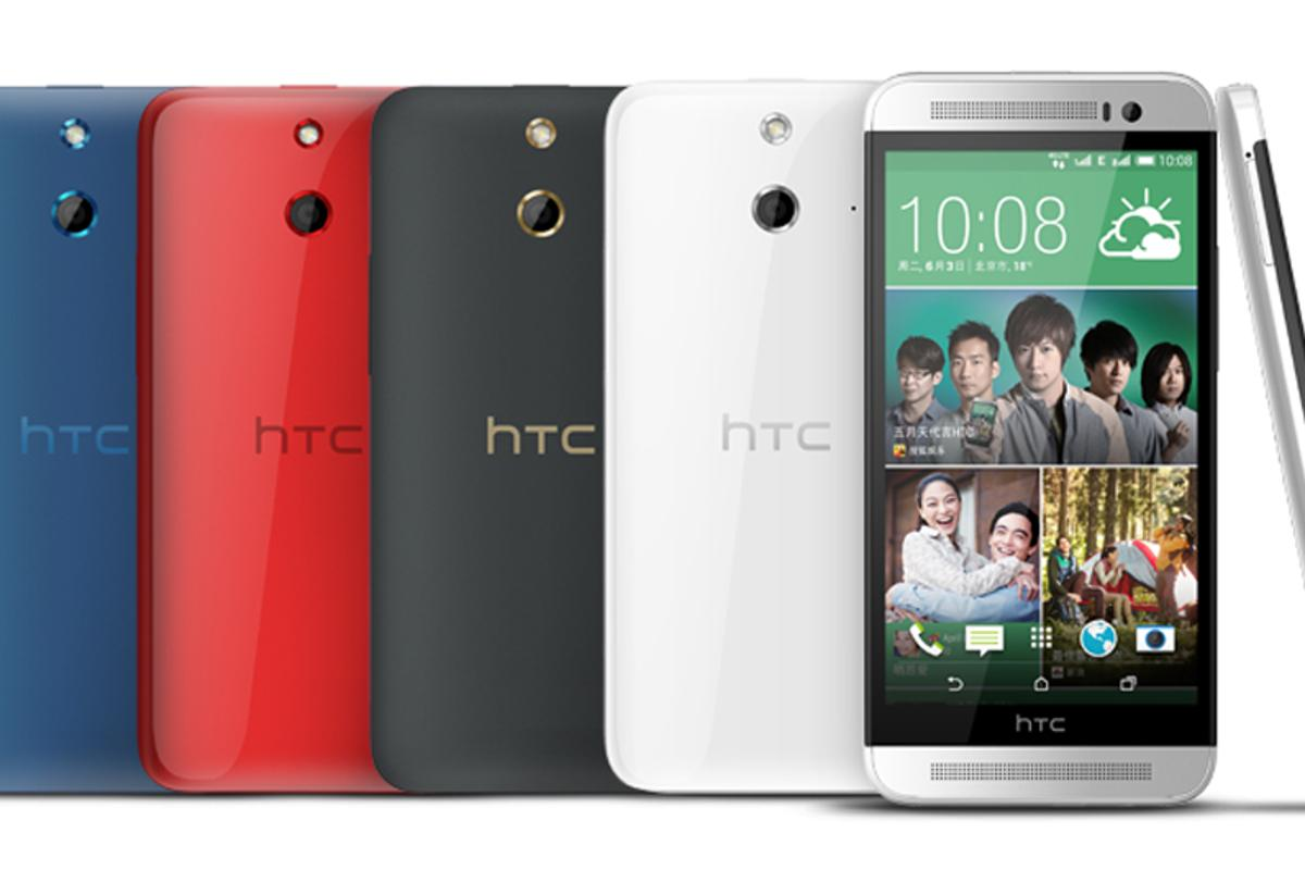 The HTC One (E8) packs the M8's internals but offers a colorful plastic aesthetic