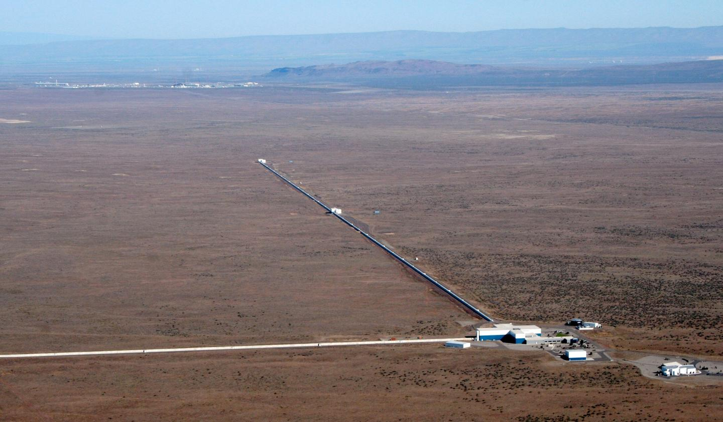 The LIGO facility in Hanford, Washington, one of two facilities operating in the US in the search for gravitational waves