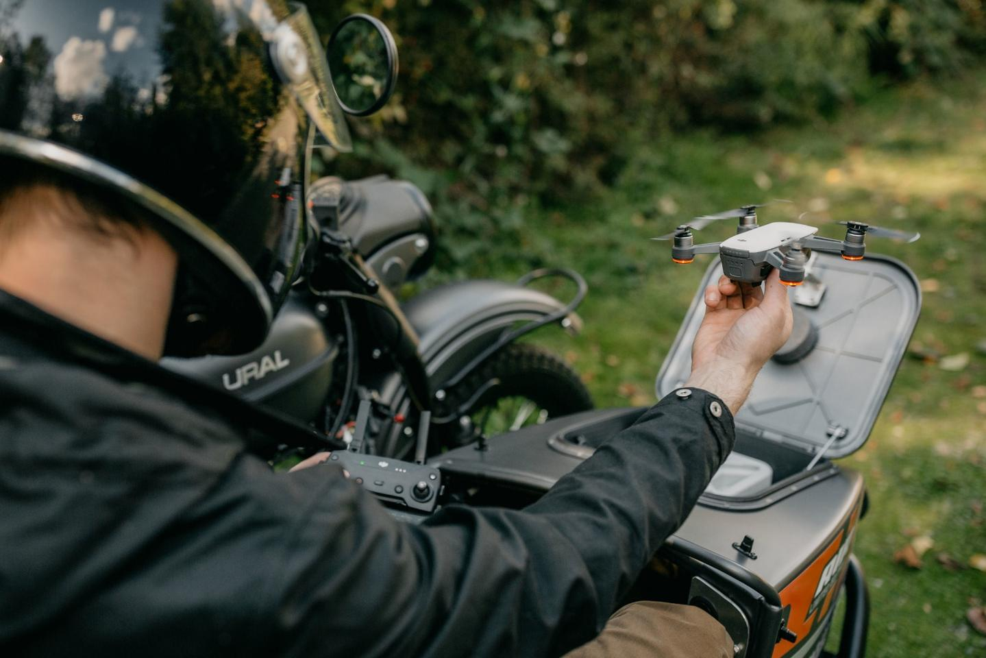 A motorcycle sidecar with a built-in drone station: the Ural Air
